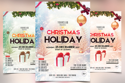 Christmas and Holidays - PSD Flyer Template