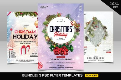 BUNDLE 50% OFF - 3 Flyers of Christmas