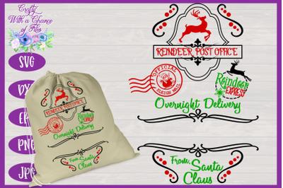 Christmas SVG   Santa Gift Sack SVG   Christmas Present Bag SVG