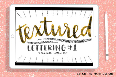 Textured Procreate Lettering Brushes Set 1