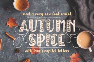 Autumn Spice Display Font
