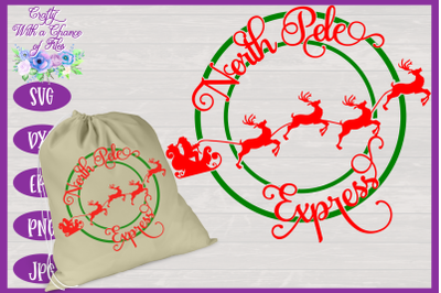 Christmas SVG   North Pole Express SVG   Ornament SVG   Santa Gift Bag