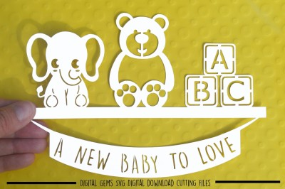 New baby SVG / DXF / EPS files
