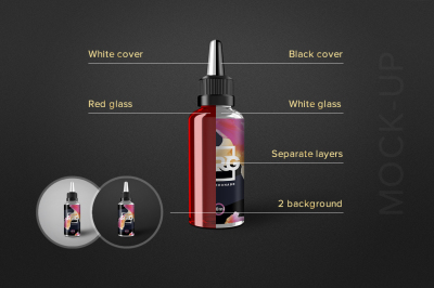 E-liquid Bottle Mockup Vape