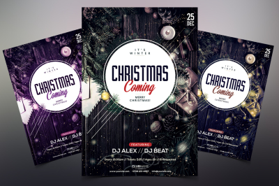 Christmas Coming - PSD Flyer Template