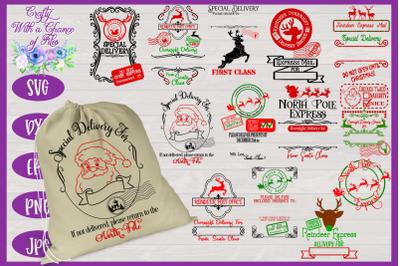 Christmas SVG | Santa Gift Sack SVG | Christmas Present Bag SVG