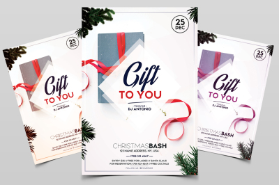 Gift to You - Christmas PSD Flyer Template