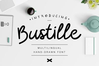 Bustille | Hand-drawn Font