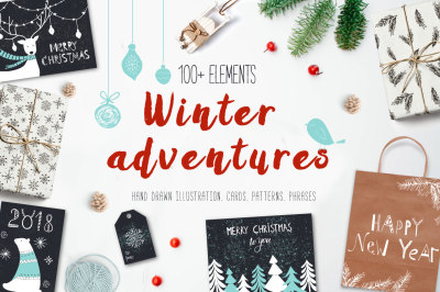 Winter adventures New Year pack