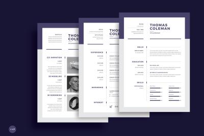 Resume/CV 3 Page