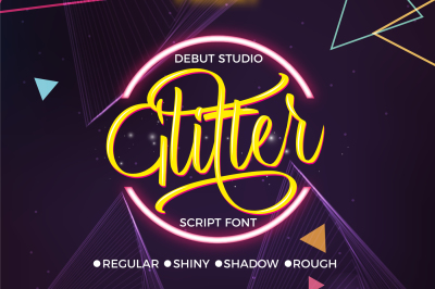 Glitter Script Font ($1 Deal)