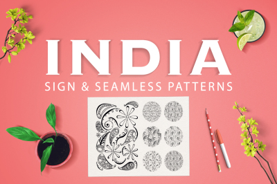 INDIA | seamless patterns and sign