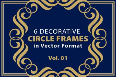6 Decorative Circle Frames