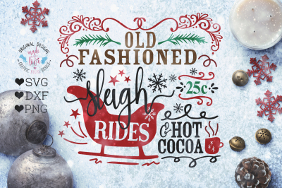Sleigh Rides Cut File (SVG, DXF, PNG