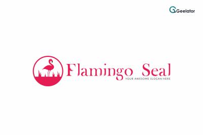 Flamingo Seal Logo Template