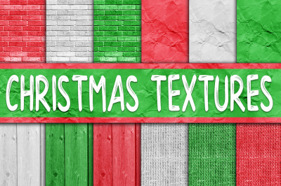 Christmas Textures Digital Paper