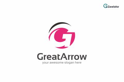 Letter G - Great Arrow Logo Template