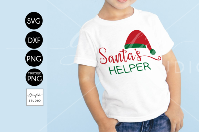 Santa's helper Christmas SVG, DXF Files, PNG Files, Holidays SVG, Xmas SVG