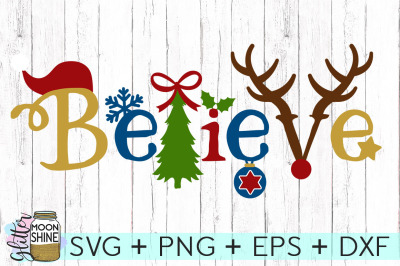 Believe SVG PNG DXF EPS Cutting Files