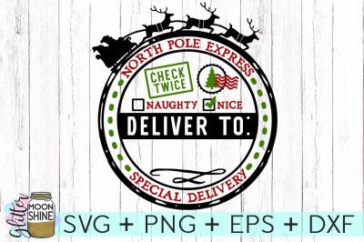 Santa Bag SVG PNG DXF EPS Cutting Files