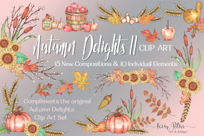 Autumn Delights II Clip Art Collection