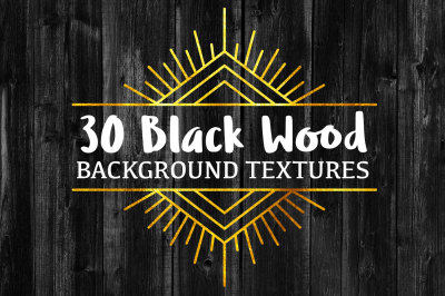 30 Black Wood Background Textures
