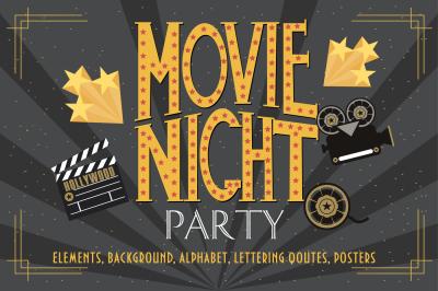 Movie Set. Lights. Camera. Action!