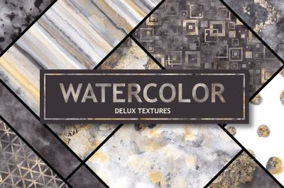 Watercolor glam textures