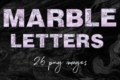 Modern Marble Alphabet Clipart