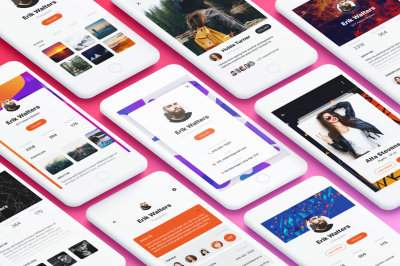 Profile Mobile App UI Kit