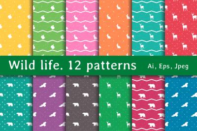 Wild life. 12 Patterns
