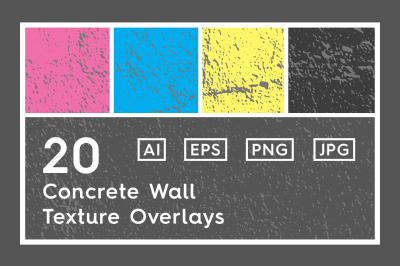 20 Concrete Wall Texture Overlays
