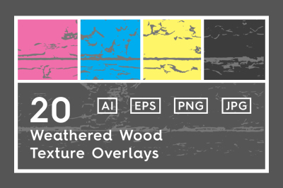 20 Weathered Wood Texture Overlays