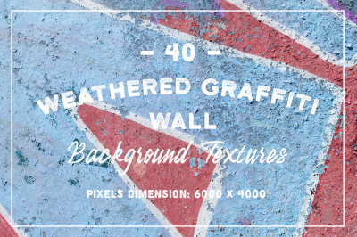 40 Weathered Graffiti Wall Background Textures
