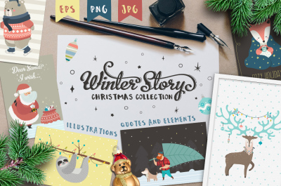 Winter Story. Christmas collection.