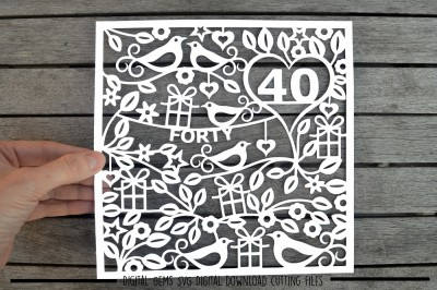 Number 40 SVG / DXF / EPS Files