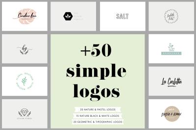 40% OFF +50 simple logos