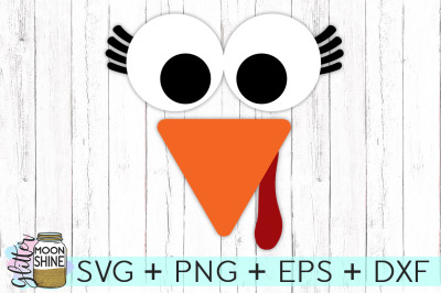 Turkey Face Girl SVG PNG DXF EPS Cutting Files
