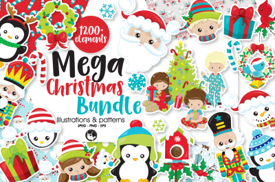 Mega Christmas Bundle, over 1200+ Elements