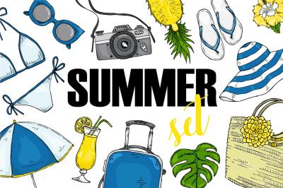 Fashion vector summer set