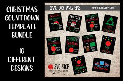Christmas Countdown Design Bundle
