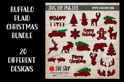 Buffalo Plaid Christmas Graphics