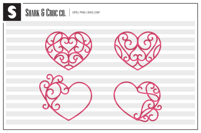 'Heart Ornaments' cut files
