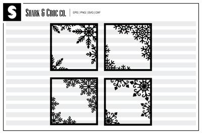 'Snowflake Frame' cut files