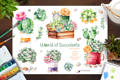 World of Succulents and cactus.