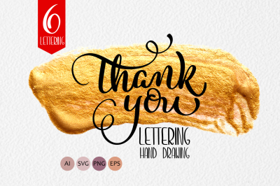 Thank You Calligraphy Lettering Collection