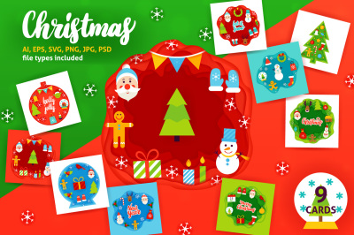 Merry Christmas Papercut Concepts