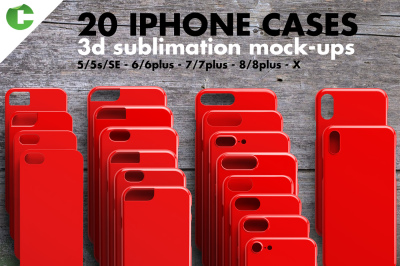 IPHONE CASE MOCK-UP 3d printing preview