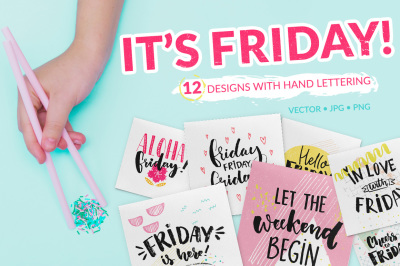 Friday - hand lettering cards & overlays