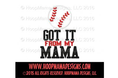 Got it from my mama - Softball or Baseball